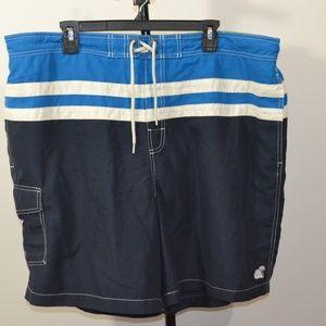 Caribbean Joe 2XL Swim Trunks Shorts Blue White St